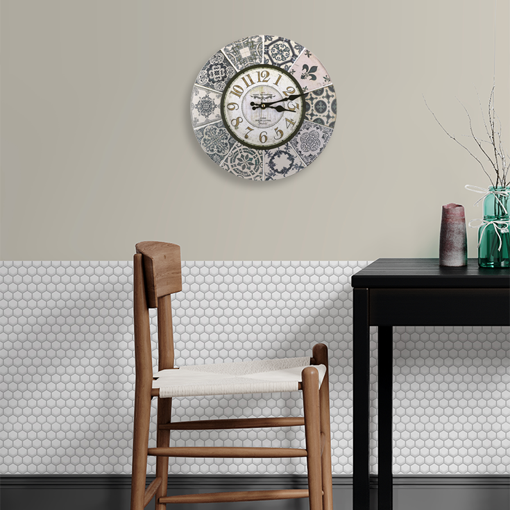Get Inspired Vintage Clock and 3D Tile